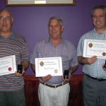 Life Members 2006 (r to l) Terry Parkin, Brian Evans and Graeme Cameron